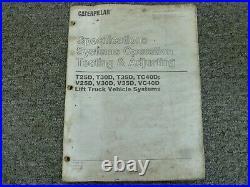 Caterpillar T25D T30D T35D Forklift Testing Adjusting Shop Service Repair Manual