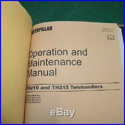 Caterpillar TH210 TH215 Telehandler Service Shop Manual repair forklift CAT book