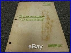 Clark TM10 TM12 TM15S Forklift SCR Control Sequence of Operation Service Manual