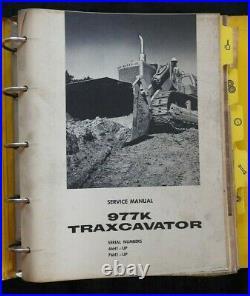 Genuine Caterpillar 977 Traxcavator Tractor Service Repair Manual Ser # 46h & Up