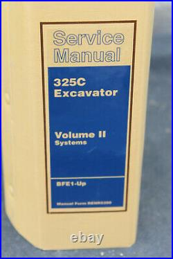 Genuine Caterpillar Service Manual 325C Excavator Volume II Systems