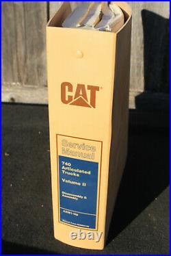 Genuine Caterpillar Service Manual 740 Articulated Trucks Volume II AXM1-UP