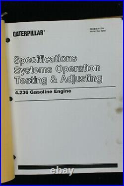 Genuine Caterpillar Service Manual V60D V70D V80D Lift Trucks Forklift
