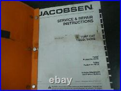 Jacobsen T422D T436G Turf Cat Mower Shop Service Repair Maintenance Manual