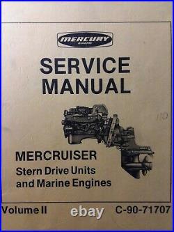 Mercury Mercruiser v. 2 Stern Drive Unit & Marine Engine 1974-1978 Service Manual