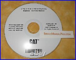 RENR2320 Cat C15 C16 C18 Truck Engine Factory Service Repair Shop Manual W1A MEP