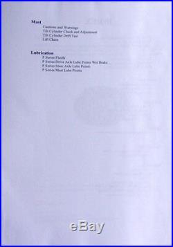Rare Original Factory Hoist P Series Liftruck Forklift Service Manual Binder