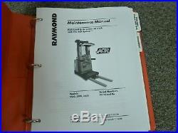 Raymond 5400 5500 5600 Orderpicker Lift Truck Shop Service Maintenance Manual