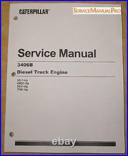 SEBR0544 NEW OEM CATERPILLAR 3406B Truck Engine Shop Service Repair Manual 3ZJ