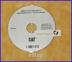 SENR3180 Caterpillar D3B Track Type Tractor Dozer Service Manual CD 2PC