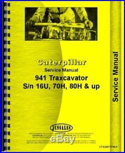 Service Manual Caterpillar 941B 941 Traxcavator