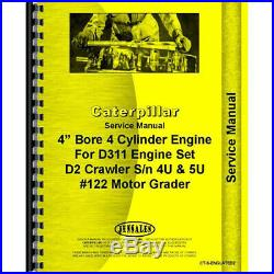 Service Manual For Caterpillar D2 Crawler Engine (Diesel)(Crawler Chassis Only)