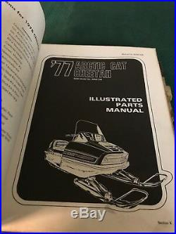 Used Vintage Arctic Cat Snowmobile Master Parts & Service Manual